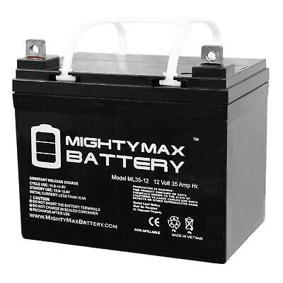 Mighty Max ML35-12 - 12V 35AH U1 Deep Cycle AGM Solar Batter