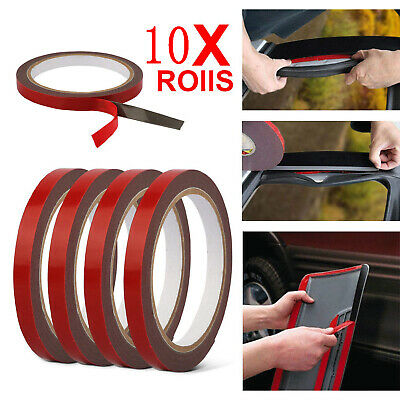 10X Auto Truck Car Acrylic Foam Double Sided Attachment Tape Adhesive 3m x 6mm