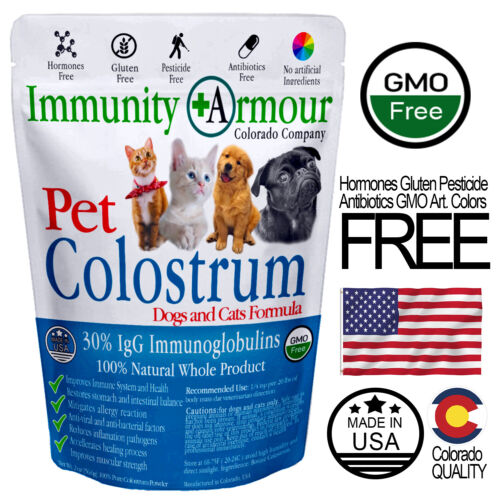 Colostrum for Pets Dogs and Cats Supplement 100% Allergy Relief 30%IgG - Powder
