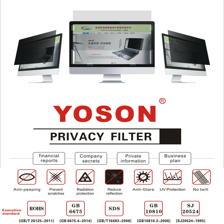 "34"" Privacy Filter Screen Protector for Widescreen Desktop M"