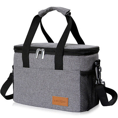 Lifewit Insulated Lunch Box Lunch Bag Thermal Bento Bag Food Container Grey