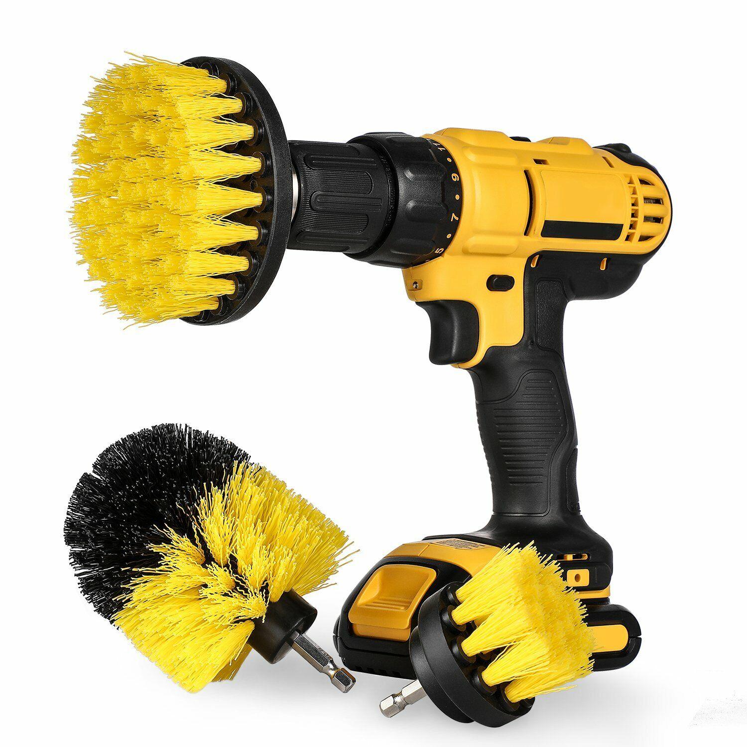 3Pcs/Set Drill Brush Bathroom Tile Grout All Purpose Power Scrubber Cleaning Kit Cleaning Products