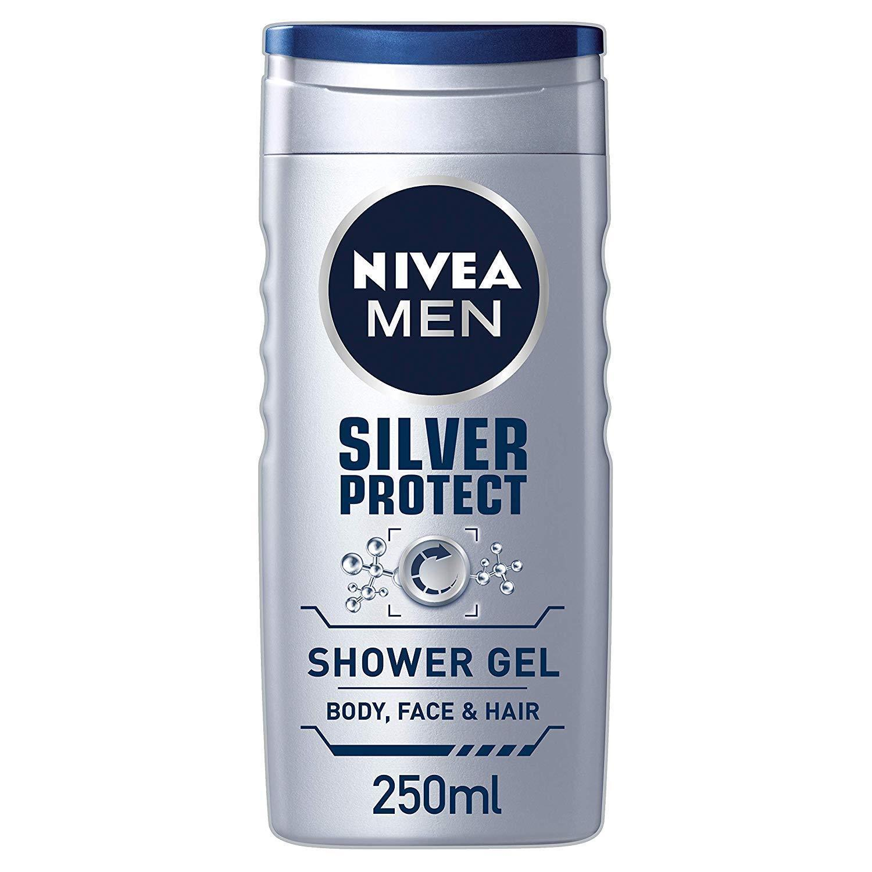 Nivea Herren Duschgel, Silber Schutz, 250 ML
