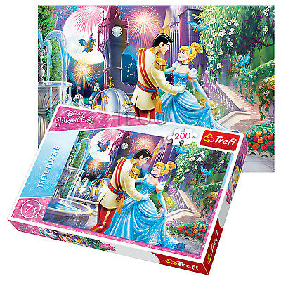 Trefl 200 Piece Kids Girls Disney Dancing Princess Castle Jigsaw Puzzle NEW