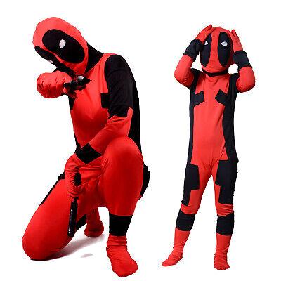 Morphsuit Marvel Superhero Costume Deadpool Spiderman Cpt America Zentai - Deadpool Kostüm Elasthan