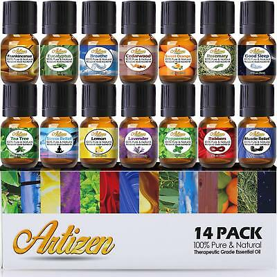 Artizen Aromatherapy Top 14 Essential Oil Set  Therapeutic G