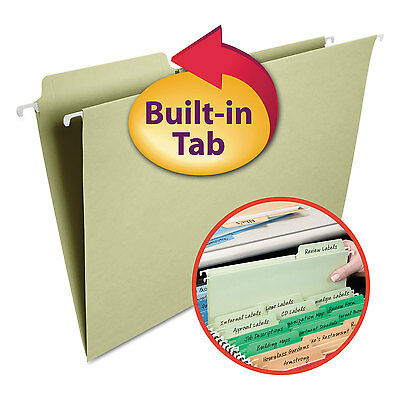 Smead Fastab Hanging File Folders 13 Tab Legal Moss Green 20box 64083