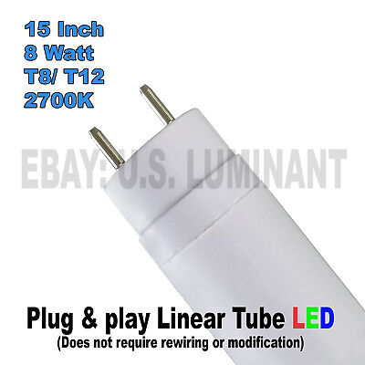 15 inch Warm White 2700K T8 LED tube relamps fluorescent tube F14T12 and F14T8