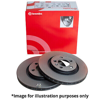 GENUINE BREMBO VENTED FRONT BRAKE DISCS & SOLID REAR BRAKE DISCS WITH WARRANTY