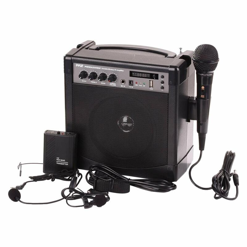 Pyle-Pro Portable Outdoor Pa Speaker Amplifier And Microphon