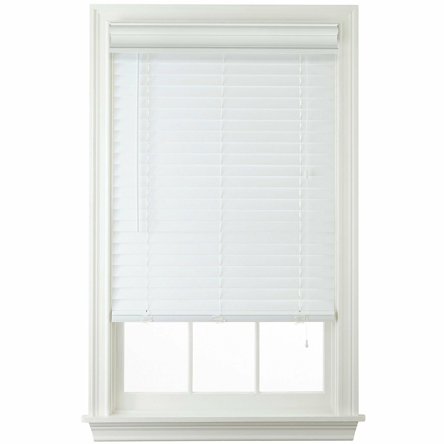 "2"" Faux Wood Horizontal Blinds - White"