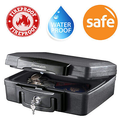 Fireproof Waterproof Safe Box Lock Money Document Security Chest Fire Storage