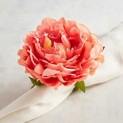 Coral Napkin Ring - Pier 1 Imports Napkin Ring Coral Pink Peony Flower Spring New