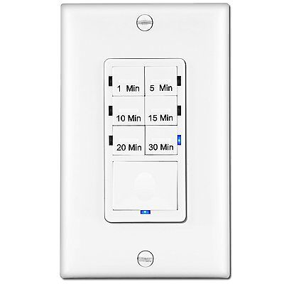 In Wall Countdown Timer Switch 1 5 10 15 20 30 Minute Presets Enerlites Het06a