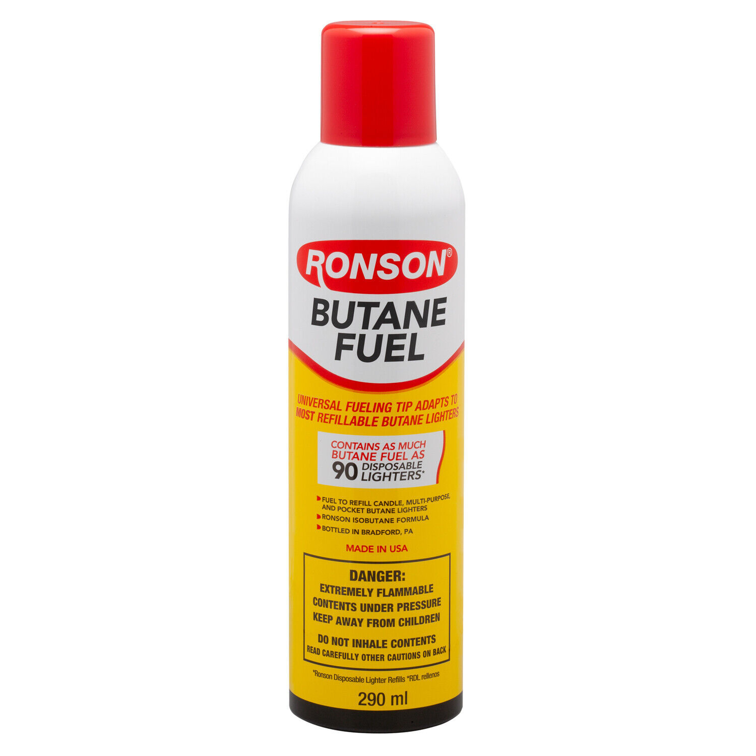 Ronson Multi Fill Butane Fuel 165G BIG CAN Made in USA