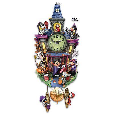 Disney spooktacular Halloween Wall Cuckoo Clock With Lights And Music  - Music Disney Halloween