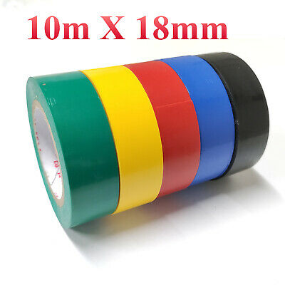 32ft Pvc Safety Insulated Wire Connecting Tape Electrical Tape 5 Rolls 0.7 Wide