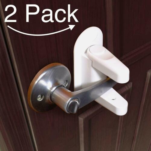 TuuT 2pk of Childproof Door Lever Handle Lock Safety 3M Adhesive New Unopened pk