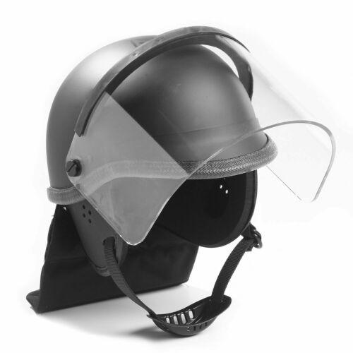PREMIER CROWN 906 TAC ELITE EPR RIOT HELMET WITH VISOR AND NECK PAD BLACK JUMBO