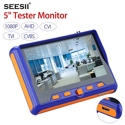 Seesii 5 Monitor Cctv Camera Tester Tvi Cvi Ahd Test Hdmi Audio Rs485 Control