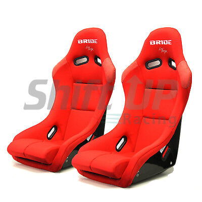 BRIDE VIOS 3 III RED Plain Low Max Pair Bucket Racing Seats