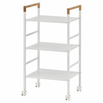 3-Tier Rolling Kitchen Utility Island Trolley Cart Dining Storage Shelf Rack USA