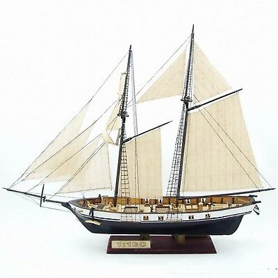 (Ship Assembly Model DIY Kits Classical Wooden Sailing Boat Scale Decoration Wood)