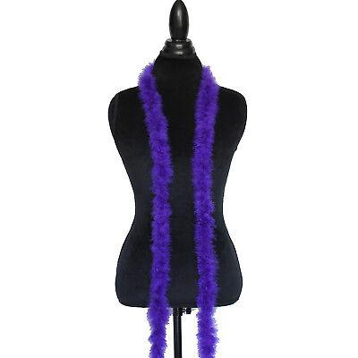 Purple 15 Grams Marabou Feather Boa 6 Feet Long Crafting Sewing Trim