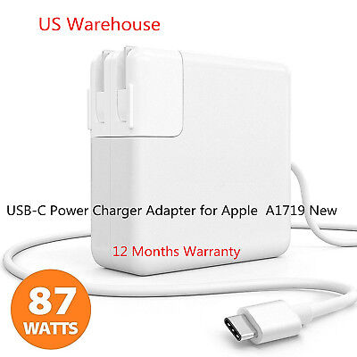 """NEW Original 87W USB-C Power Charger Adapter for  MacBook PRO 13"""" A1719 USA"""