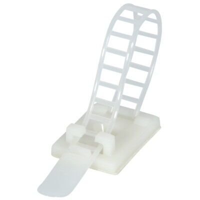 """25x Adjustable Adhesive Cable Straps Cord Management Tie Mount Clips 1.0"""" White for sale  Shipping to India"""