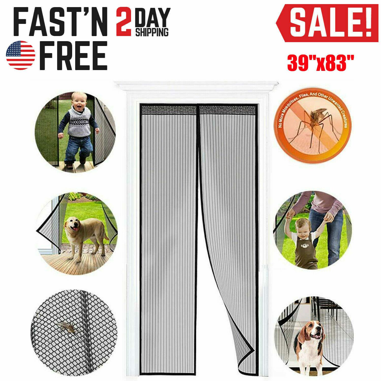 Hands-Free Magnetic Screen Door Mesh Net Mosquito Fly Insect