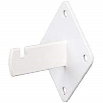 Gridwall Wall Mount Bracket - Grid Panel Mounting Brackets -white - 4 Pieces