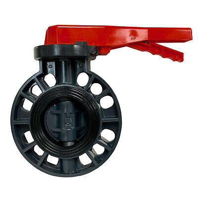 NEW SCH 80 PVC 3 INCH BUTTERFLY VALVE LOCKING HANDLE BUTTERFLY VALVE NEW PVC