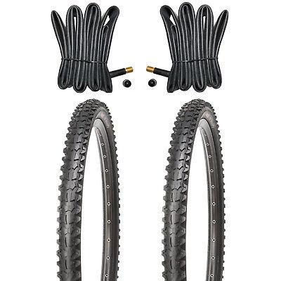 2 Mountainbike Reifen MTB Fahrradreifen 26 Zoll 26x1.95 + 2 x Schlauch mit
