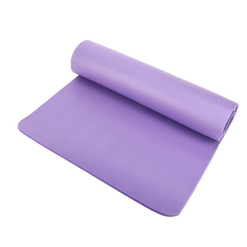 """0.39"""" Thick Yoga Mat Gym Camping Non-Slip Fitness Exercise P"""