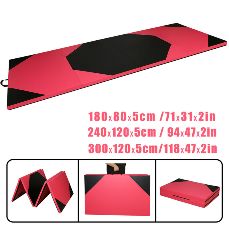 Klappbar Turnmatte Weichbodenmatte Gymnastikmatte Yogamatte Fitnessmatte Tragbar