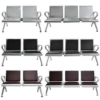 2 Seat 3 Seat Waiting Chair Airport Bench Office Salon Reception Room Chair New