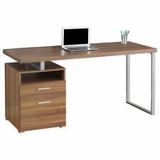 Monarch Specialties 60 Inch Industrial Design Office Computer Desk, Walnut