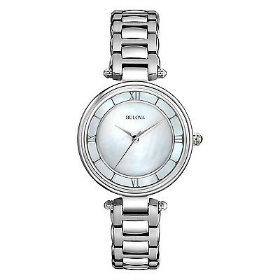 Bulova Women's 96L185 Mother of Pearl Dial Stainless Steel Bracelet Watch