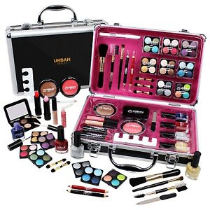 Make-Up-Makeup-Cosmetic-Set-Travel-Organiser-Professional-Vanity-Case-Gift-Xmas