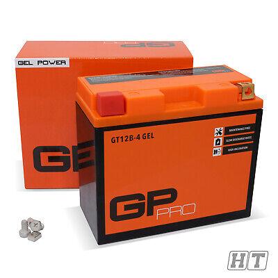 Batterie 12V 10Ah Gel Batterie GP-Pro GT12B-4 ähnl. YT12B-BS CT12B4 wartungsfrei