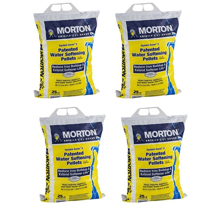 Morton Salt System Saver II Water Softener Pellets, 25 lbs (4 Pack)
