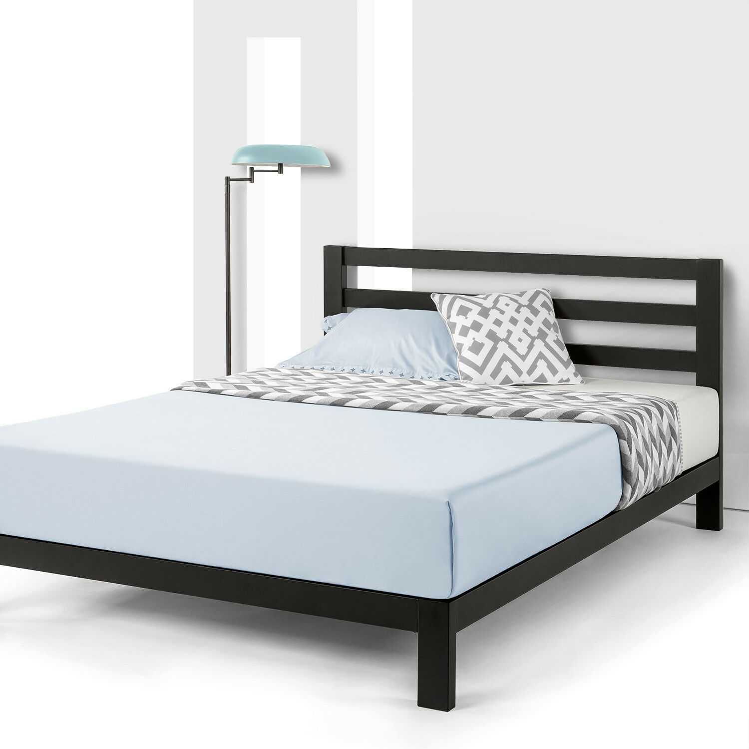 10'' EXTRA STURDY Heavy Duty Metal Platform Bed with Wooden