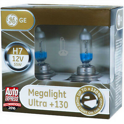 4 Light Kit (H7 GE Lighting Megalight Ultra +130% Halogen Scheinwerfer Lampe DUO - Box NEU)