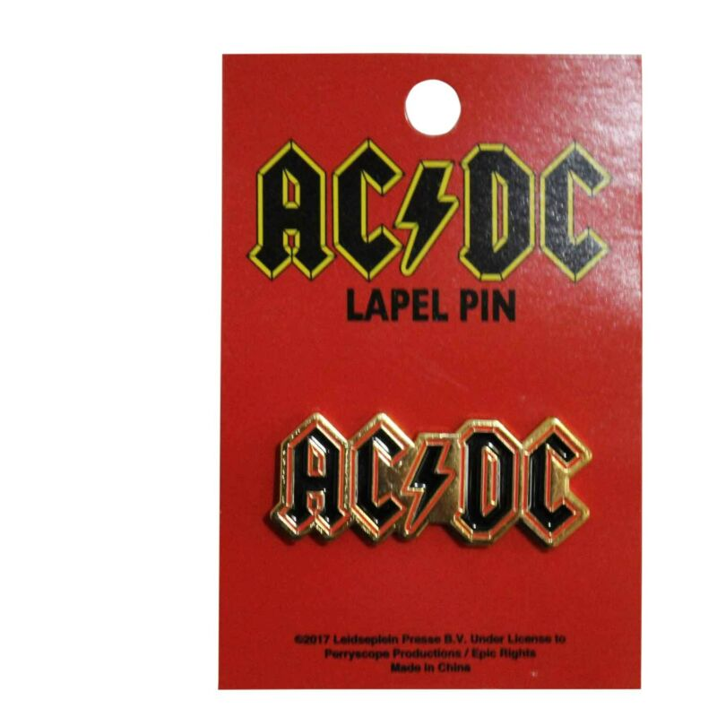 AC/DC Logo Collectible Metal Pendant Lapel Hat Pin - Officially Licensed