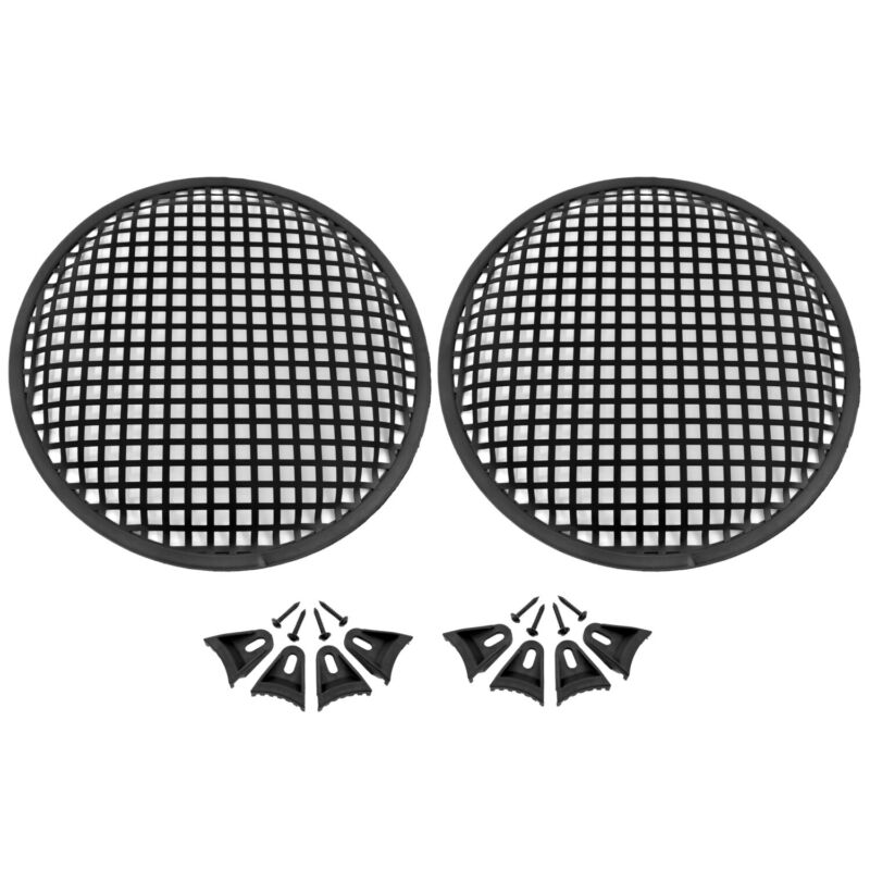Universal 10 inch Metal Mesh Speaker Subwoofer Grill Cover Waffle Style - 2 Pack