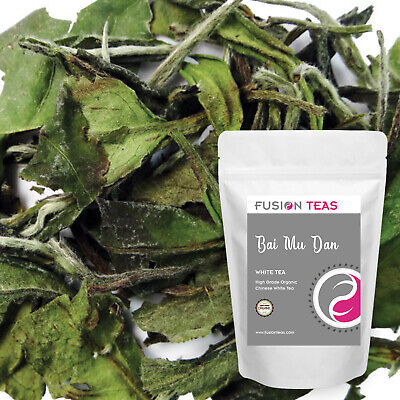 Bai Mu Dan White Tea - Organic - Fujian Loose Leaf Peony - Fusion Teas Loose White Tea