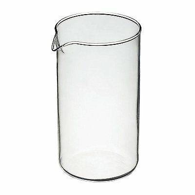 BonJour 3-Cup Carafe Glass Coffee French Press Replacement Jar Beaker 12 oz. (Coffee Press Replacement Beaker Glass)