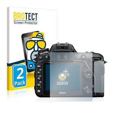 2x Displayschutzfolie Matt für Nikon D7500 Schutzfolie Displayfolie Folie