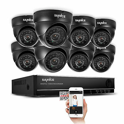 1080N 8CH  2000TVL CCTV DVR  Kamera SET Sicherheitssystem Video überwachung KIT